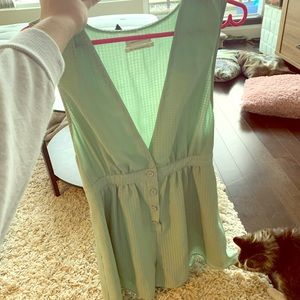 🌼Urban Outfitters mint green Romper